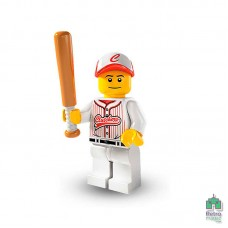 Lego Фигурка Series 3 Baseball Player Бейсболист 1 Оригинал Б\У О - интернет магазин Retromagaz