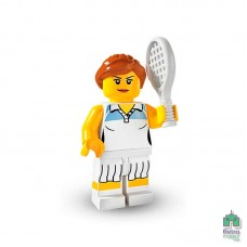 Lego Фигурка Series 3 Tennis Player Теннисистка 1 Оригинал Б\У О - интернет магазин Retromagaz