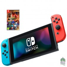 Nintendo Switch 32GB Blue Red + Игра Sonic Forces РУС