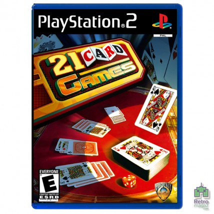 Ігри PlayStation 2 Оригинал - 21 Card Games (PAL) |PS2| оригінал| Б/У