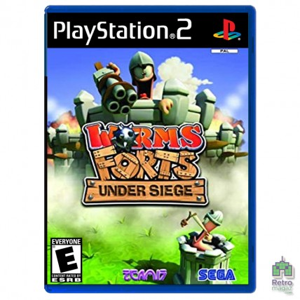 Игры PlayStation 2 Оригинал - Worms Forts Under Siege (PAL)| PS2 |оригинал| Б/У