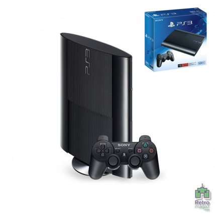 Консоли PlayStation 3 Б/У - PlayStation 3 Super Slim 500GB + Коробка Б/У