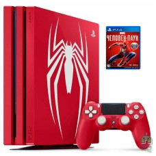 PlayStation 4 Pro 1TB Limited Edition Marvel's Spider-Man Red + Игра Marvel's Spider-Man РУС - интернет магазин Retromagaz