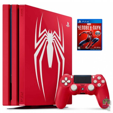 PlayStation 4 1TB Limited Edition Marvel's Spider-Man Red + Игра Marvel's Spider-Man РУС