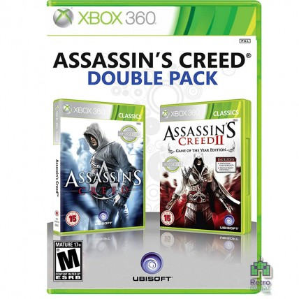 Xbox 360 Оригинал - Assassin's Creed Double Pack Assassin's Creed & Assassin's Creed 2 GOTY Xbox 360 Б/У