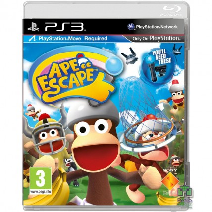 Игры PlayStation 3 - Ape Escape РУС PS3 Б/У