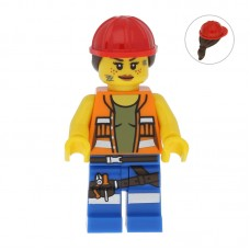 Lego Фигурка Gail the Construction Worker Гэйл строитель tlm009 1 Оригинал Б/У О - интернет магазин Retromagaz