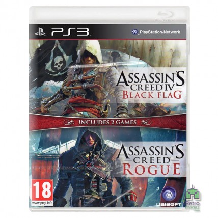 Игры PlayStation 3 - Assassin's Creed 4 Black Flag + Assassin's Creed Rogue PS3 (Англійська версія) Б/В