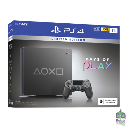 Консоли PlayStation 4 Новые - PlayStation 4 Slim 1TB Days of Play Limited Edition